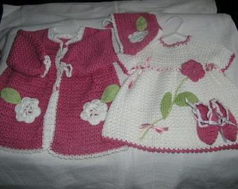 Baby Crochet Dress Outfit