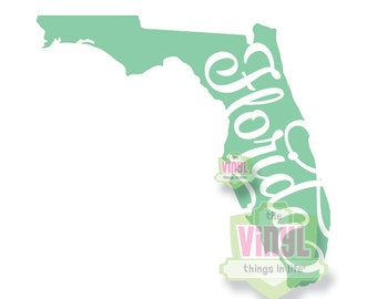 Florida decal, Florida state sticker, State of Florida, FL pride, Laptop decal, Car decal, Sunshine state decal, FL sticker, State decals