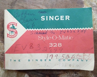 Singer Style-O-Matic 328 Sewing Machine Manual