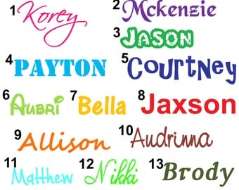 Custom Name Vinyl Decal, Car Decal, Name Decal, Personalized Decal, Kids Name Decal, Window Decal, Custom Car Decal, Custom Window Decal