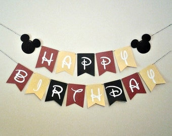 Mickey Mouse - Happy Birthday Banner