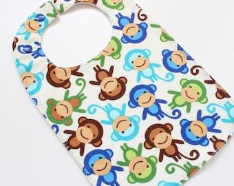 Sale! Original baby bib - monkeys