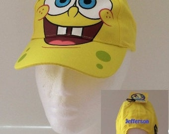 Yellow Spongebob Squarepants Toddler Baseball Cap - Personalized