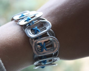 Recycled Cola tab bracelet