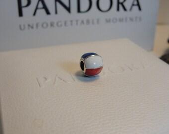 Authentic Pandora Beach Ball Charm / New/791146ENMX