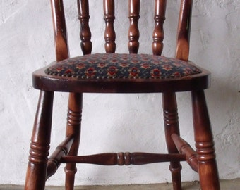 Solid Oak Spindle Back Dining Chair (Kitchen/Dining Room)(Single)(Solid Wood)