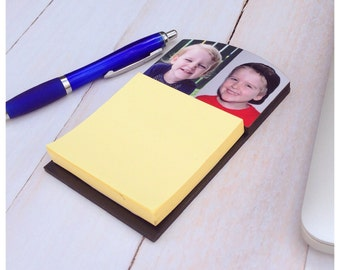 Personalised post-it note holder: two photos - Great Mother's Day gift!