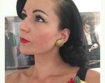 40's style set : brooch and earrings