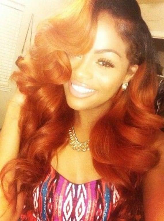 Balayage Dip Dye 8a Remy Custom U Part Wig Virgin U Part Wig