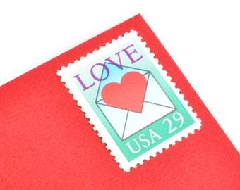 25 Heart Love Stamps - 29c - Vintage 1992 - Unused Postage - Quantity of 25
