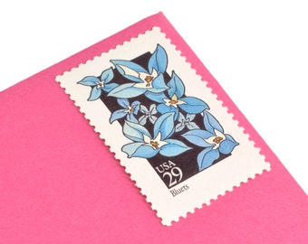 25 Wildflower Stamps - 29c - Unique floral postage stamps - Vintage 1992 - Unused - Quantity of 25