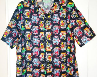Men's Create Your Own Comics and More Hawaiian Style Shirt