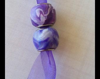 Multicolour Polymer Clay Charm Beads 5mm thread