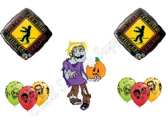 ZOMBIES HALLOWEEN Walking Dead Balloons Decoration Supplies Party Birthday