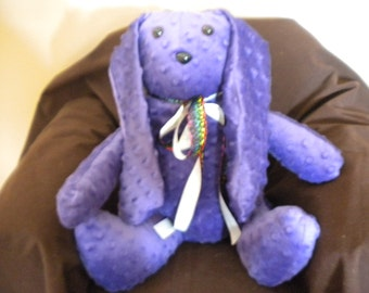 Purple Spotted Stuffed Rabbit