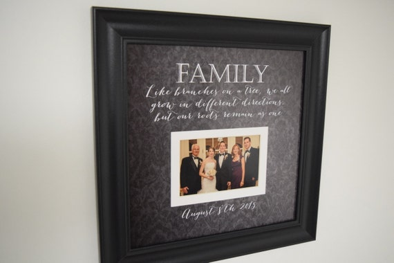 Family Photo Frame Like Branches On A Tree Quote Frame