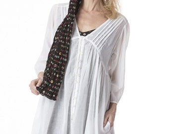 White cotton tunic Roshanara