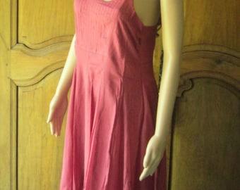 Dress raspberry cotton Roshanara, model Rosa