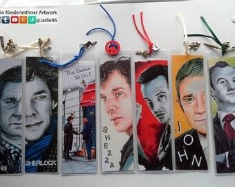 Sherlock Bookmarks ~ Benedict Cumberbatch - Martin Freeman - Andrew Scott