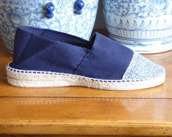 Wedge espadrilles with printed front - mumishoes