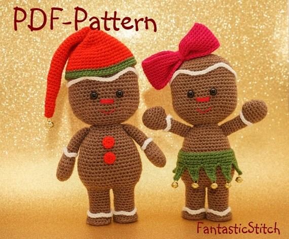 Free Crochet Pattern For Gingerbread Man Hat : Crochet pattern gingerbread man christmas amigurumi PDF 26