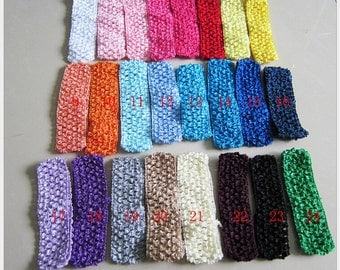 U Pick Wholesales 1.0'' 2.5cm knitting headband Cute Crochet Headbands Elastic Headband Baby Girl Accessories Baby Toddle YTA14-1
