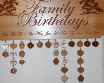 Family Birthdays Plaque