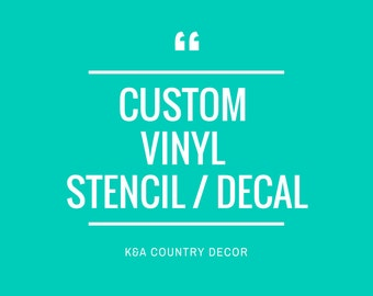 Glass Etching Custom Stencil