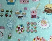 "Fabric  by Alexander Henry ""Just Desserts""  100% Cotton,  Out of Stock and Hard to Find - 1 3/4  Yards by 44"" Wide"