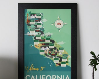 Welcome to California Framed Fine Art Giclee Print