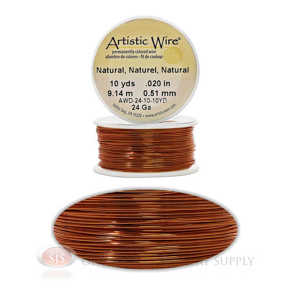 24 gauge natural artistic craft wire 30 feet meters for 24 gauge craft wire