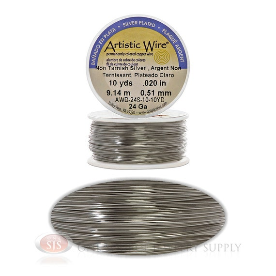 24 gauge silver plate artistic craft wire 30 feet meters for 24 gauge craft wire