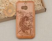 Nature / Animals Custom Design ''Koi Fish'' Natural Cherry Wood Phone Case Samsung Galaxy A5 S5 mini S6 and S6 edge S7 edge S8 plus Note 4 5