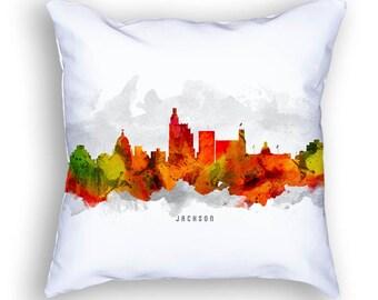 Jackson Mississippi Pillow, 18x18, Jackson Skyline, Jackson Cityscape, Cushion Home Decor, Gift Idea, Pillow Case 15