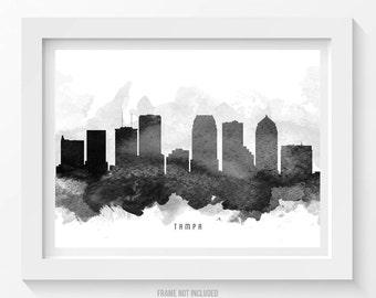 Tampa Florida Skyline Poster, Tampa Citycape, Tampa Art, Tampa Decor, Home Decor, Gift Idea 11