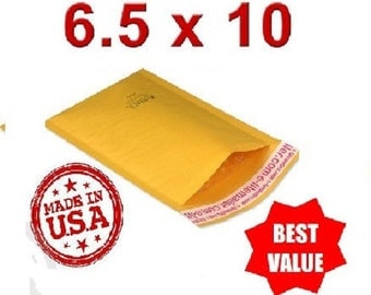 "250 Bubble Mailers #0 - 6.5""x10"" USA Kraft Envelope Mail Shipping Packing Supplies"