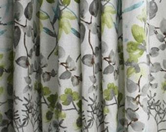 Floral Curtains Braemore Gazebo Cloud Curtain Panels Grey Floral Curtains  Green Curtains Blue Window Treatments ONE