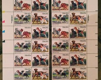 1984 Dogs Vintage Postage Stamp  #2098 - 2101
