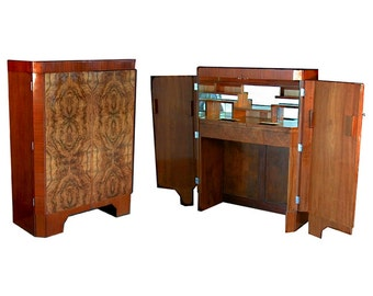 4652 Art Deco Bar in Mixed Exotic Woods