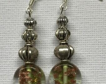 Czech glass and pumpkin beads Earrings