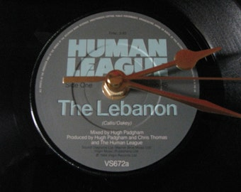 "The Human League the lebanon 7"" vinyl record clock"