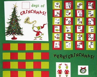 How the Grinch Stole X-Mas  Panel Fabric