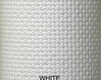 1 Yard Zweigart Aida Fabric 14-Count White 51 inches wide (91.44cm x 129.54cm)