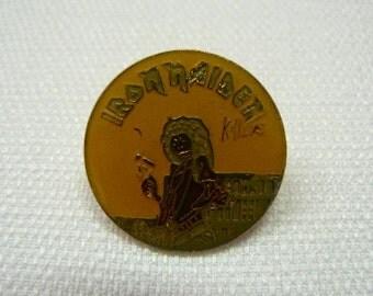 Vintage Early 80s Iron Maiden / Killers Album (1981) Enamel Pin / Button / Badge