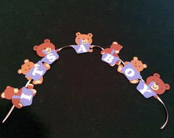 Teddy Bear Picnic Baby Shower It's a Boy Banner and signs
