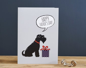 Schnauzer Father's Day card (choice of colour)
