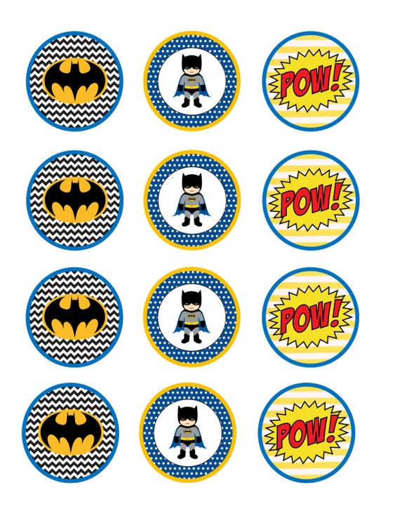 It's just a graphic of Monster Batman Cupcake Toppers Printable