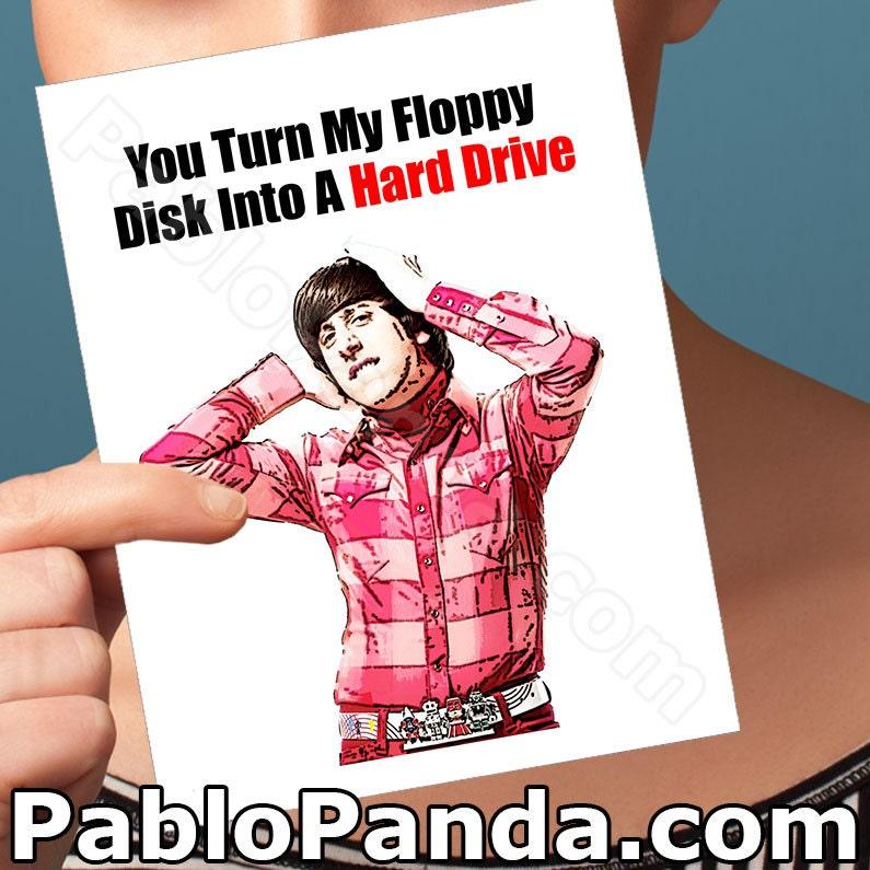 The Big Bang Theory Anniversary Card Howard Wolowitz Gift – Big Bang Theory Birthday Card