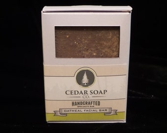 Being Discontinued, Oatmeal Facial bar:  Deep Cleansing using clay & ground Oatmeal to gently remove excess facial oil.