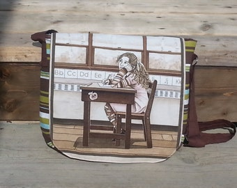 Messager bag with adustable handle